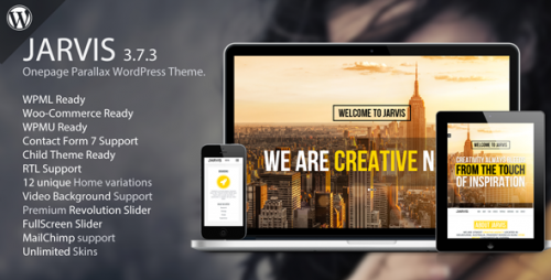 Nulled Jarvis v3.7.3 - Onepage Parallax WordPress Theme