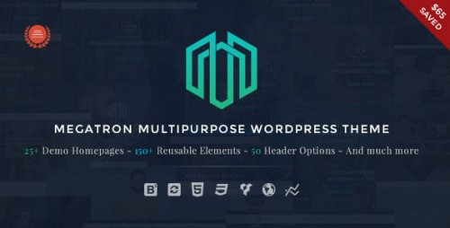Nulled Megatron v2.2 - Responsive MultiPurpose WordPress Theme graphic