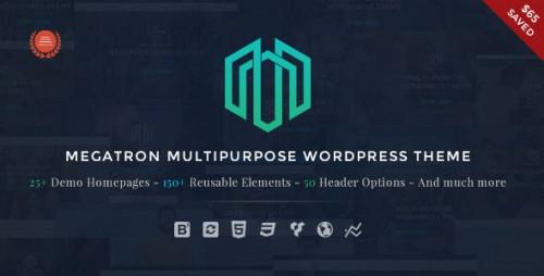 Nulled Megatron v2.2 - Responsive MultiPurpose WordPress Theme graphic