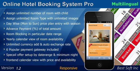 Online Hotel Booking System Pro v1.2