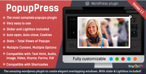 Nulled PopupPress v2.5.4 - Popups with Slider & Lightbox for WP snapshot