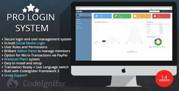 Pro Login User Management System v1.4