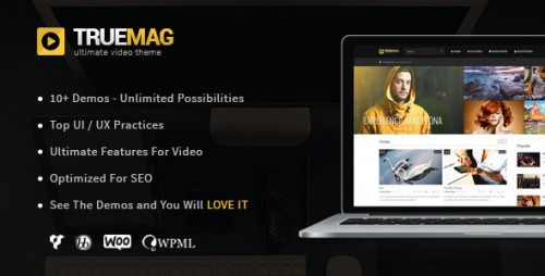 Nulled True Mag v4.2.8.5 - WordPress Theme for Video and Magazine product image