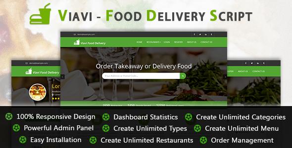Viavi - Food Delivery Script v1.0.2