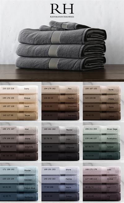 RH 802 GRAM TURKISH TOWEL COLLECTION