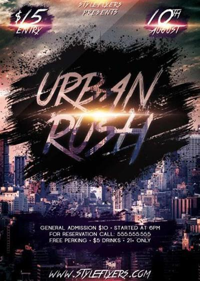 Urban Rush PSD Flyer Template