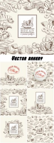 Vector bakery retro background