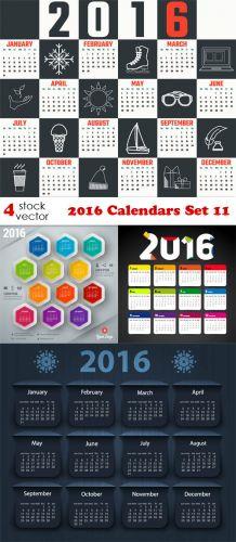 Vectors - 2016 Calendars Set 11