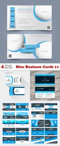 Vectors - Blue Business Cards 11