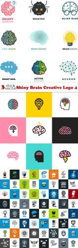 Vectors - Shiny Brain Creative Logo 4