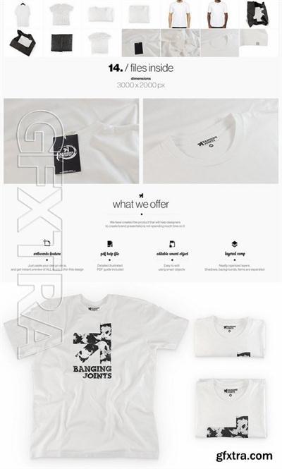 White T-Shirt Presentation Mockup