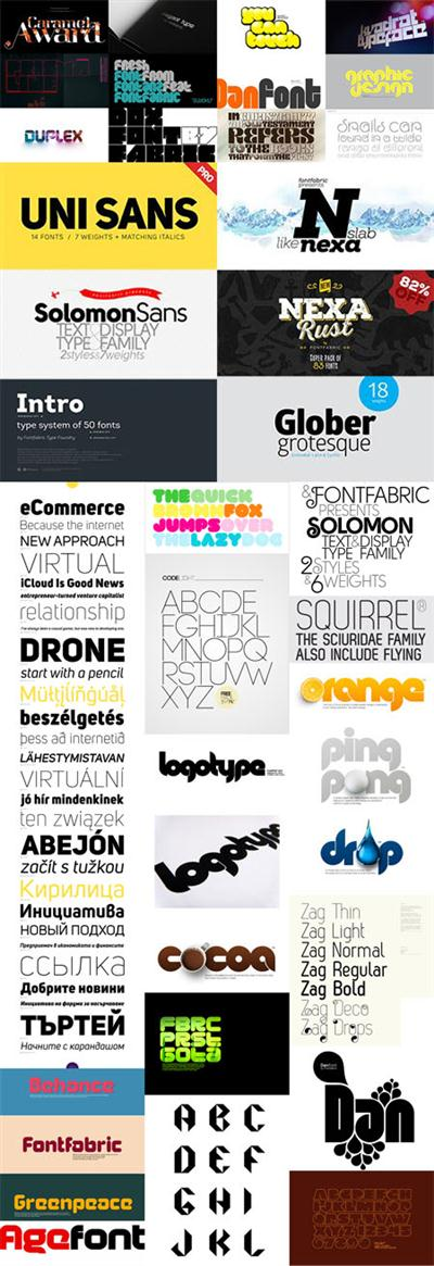 80 Fonts Collection (Free & Premium)