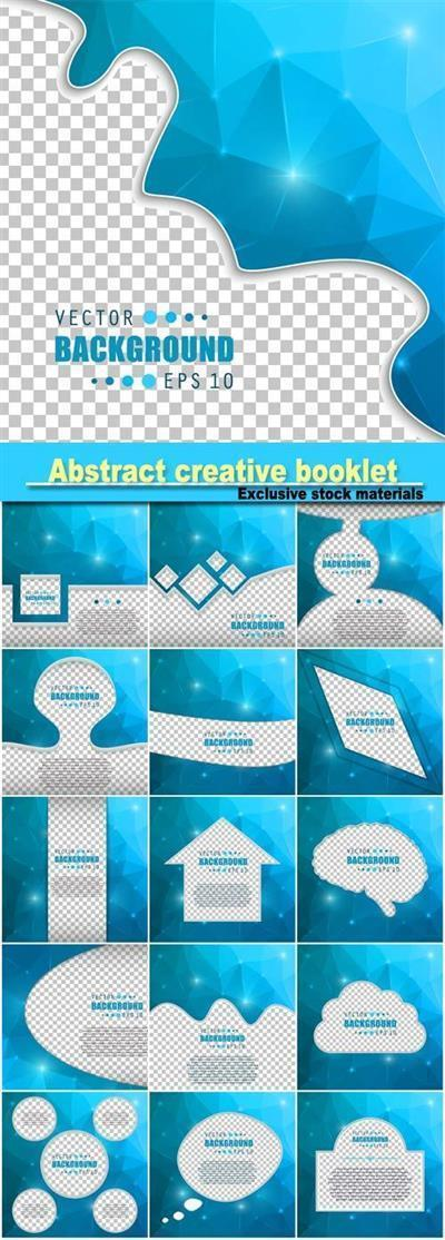 Abstract creative concept vector booklet list for web and mobile Applications