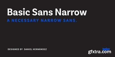 Basic Sans Narrow Font Family - 28 Fonts $999