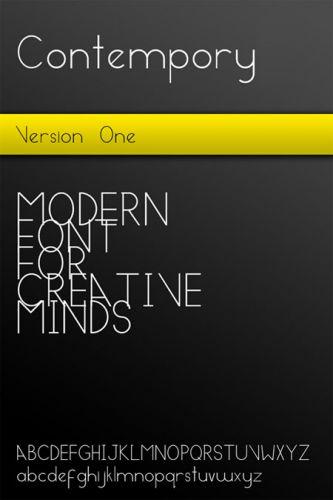 Contempory - Modern Font TTF