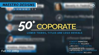Coporate Lower Thirds Titles And Logos Pack - Project for After Effects (Videohive)