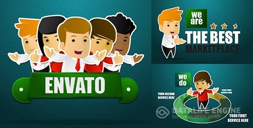 Corporate Sticker Cartoon with Kinetic Typo 5108526 Videohive - After Effects Template