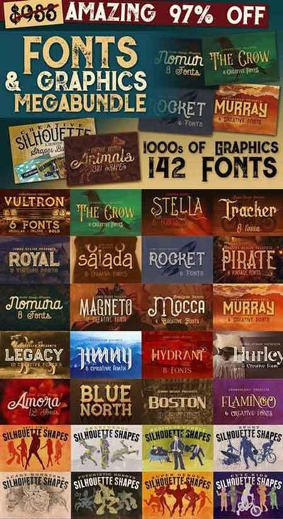 CreativeMarket - Fonts & Graphics Bundle