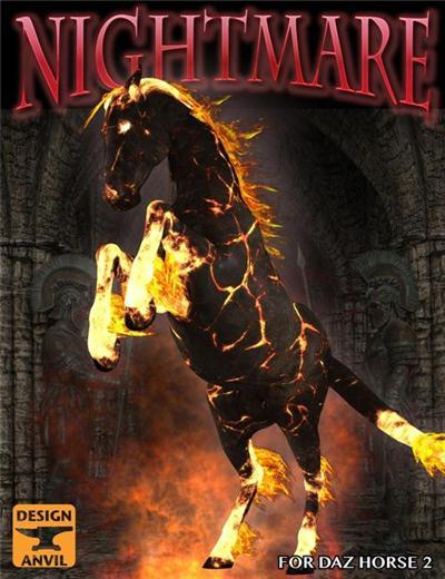 DAZ3D - Poser - DA Nightmare for DAZ Horse 2
