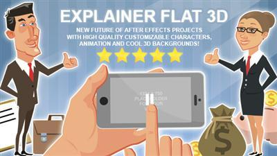 Explainer Flat 3D - Project for After Effects (Videohive)