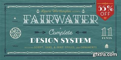 Fairwater Font Family - 18 Fonts