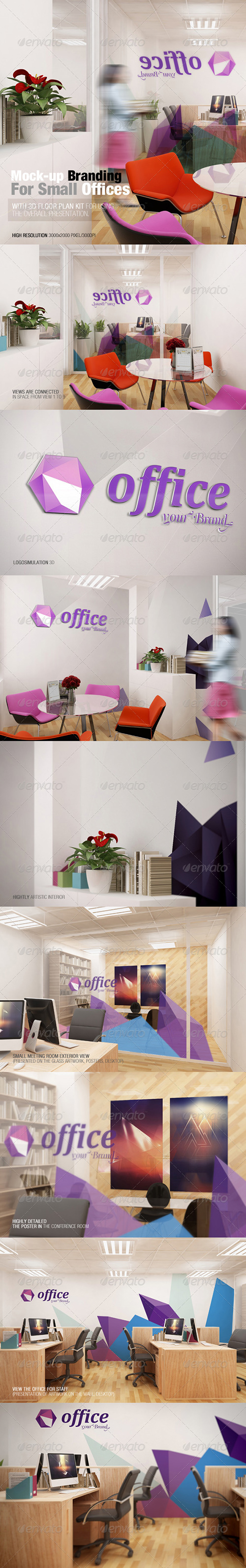GraphicRiver - Mockup Branding For Small Offices 7688046