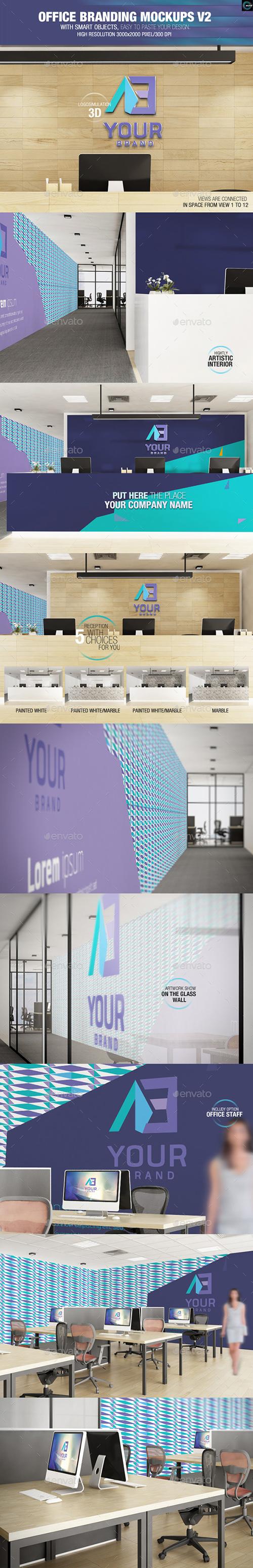 GraphicRiver - Office Branding Mockups V2 8180632