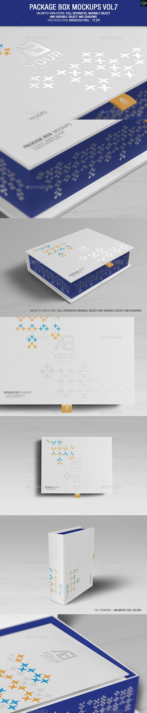 GraphicRiver - Package Box Mockups Vol.7 9924029