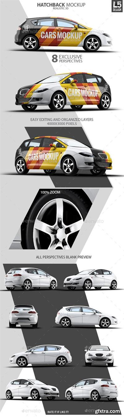 Graphicriver Hatchback Mock-Up 10269960