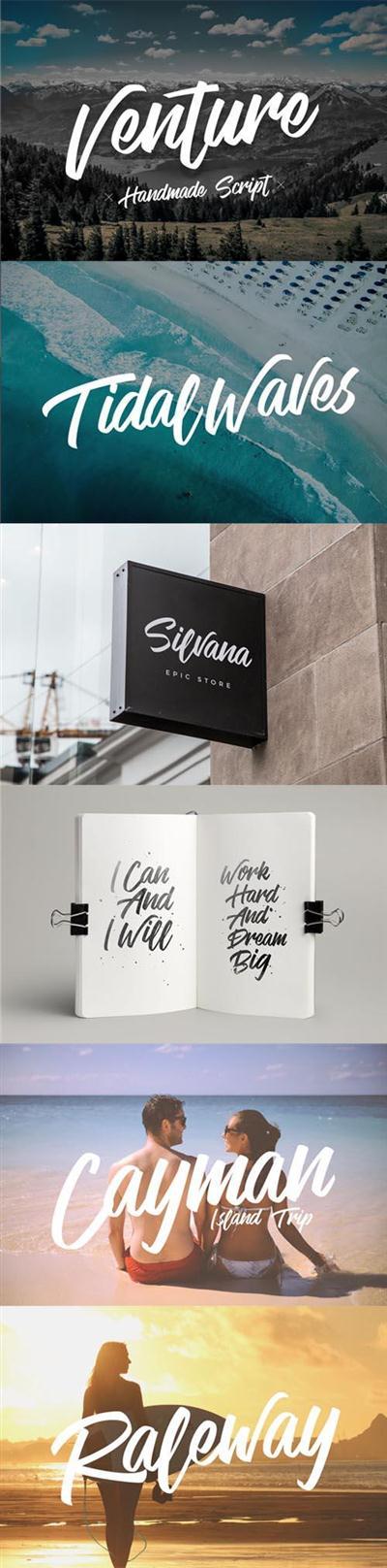 Handmade Font Script - Venture