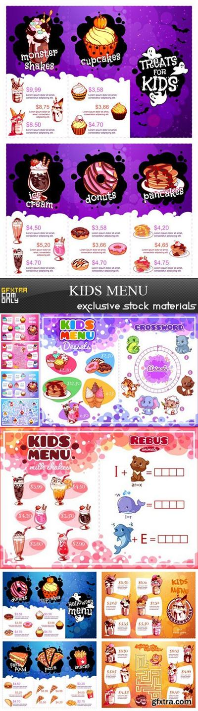 Kids Menu - 7 EPS