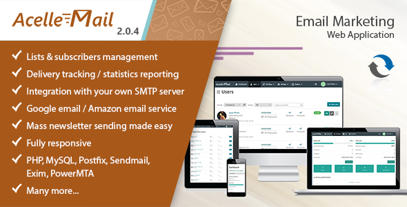 Acelle v2.0.4 - Email Marketing Web Application