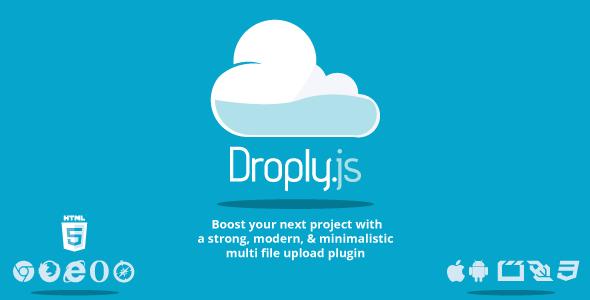 Droply.js - PHP minimalist responsive file uploader