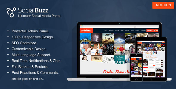 SocialBuzz v1.4 - Ultimate Social Media Portal