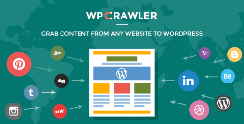 Nulled WP Crawler v1.1.3 - Grab Any Website Content To WordPress image