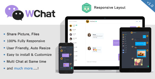 Wchat - Fully Responsive PHP/AJAX Chat