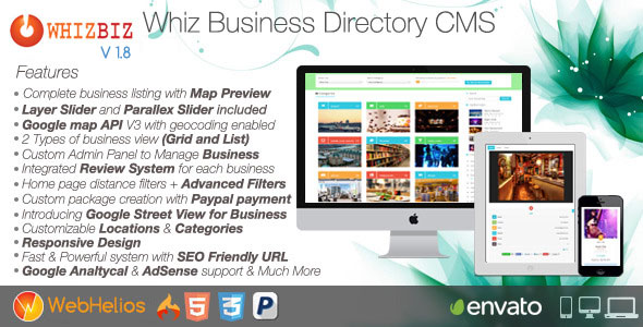 WhizBiz v1.8 - Business Directory CMS