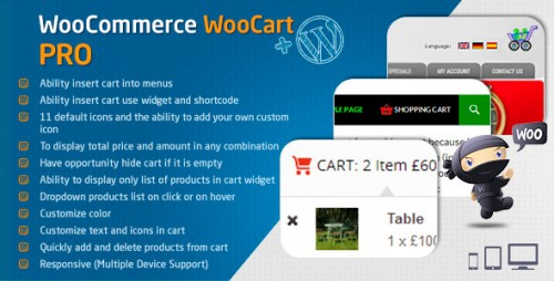 Nulled WooCommerce Cart - WooCart Pro v2.3.0 - WordPress Plugin product photo