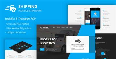 Shipping ? Logistics & Transport PSD Template 12495368
