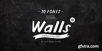 TT Walls Font Family - 10 Fonts
