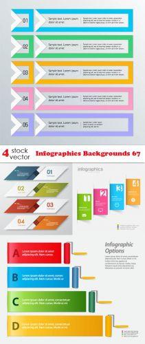 Vectors - Infographics Backgrounds 67