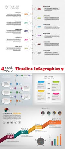Vectors -- Timeline Infographics 9