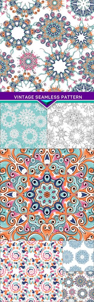 Vintage seamless pattern for your design 6X EPS