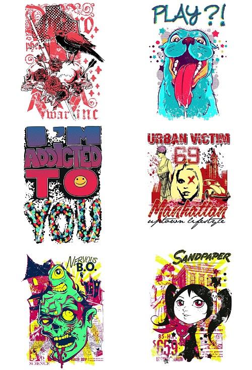 T-Shirt Factory : Mega Bundle Edition Vectors Vol 1-6