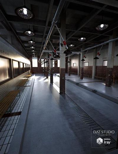DAZ3D - Poser: Prison Bundle + Prison Death Chamber