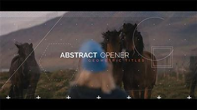 Abstract Opener - Geometric Titles - Project for After Effects (Videohive)