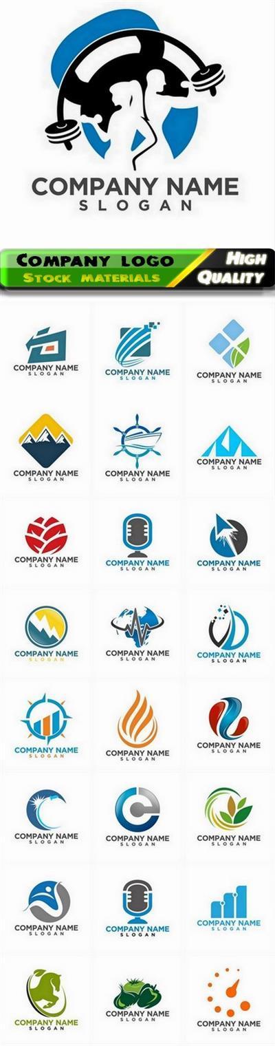Business company badge logotype and logo emblem 26 - 25 Eps