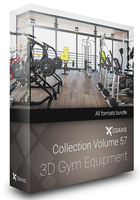CGAxis Models Volume 57 -  Gym Equipment