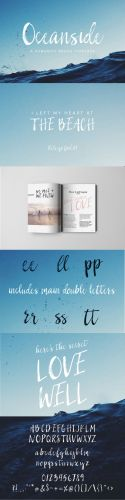 CM - Oceanside | A Romantic Brush Font 933431