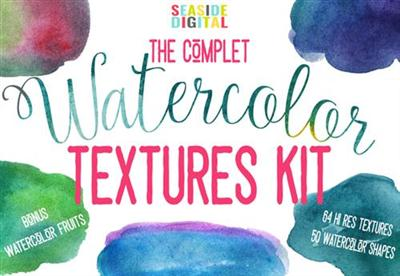 CreativeMarket - Complet Watercolor Textures Kit